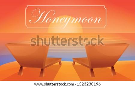 honeymoon beach chair concept
