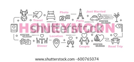 honeymoon vector banner design