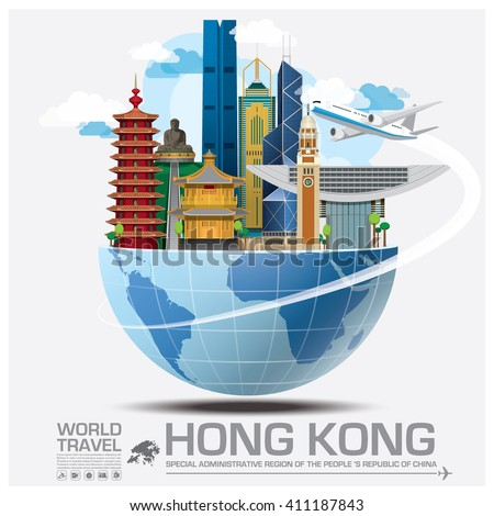 Hong Kong Landmark Global Travel And Journey Infographic Vector Design Template