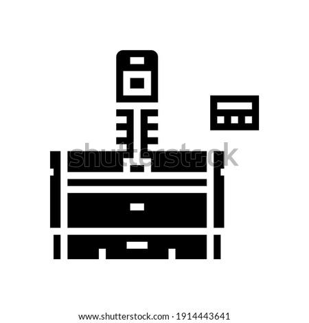 honing machine glyph icon vector. honing machine sign. isolated contour symbol black illustration Stockfoto ©