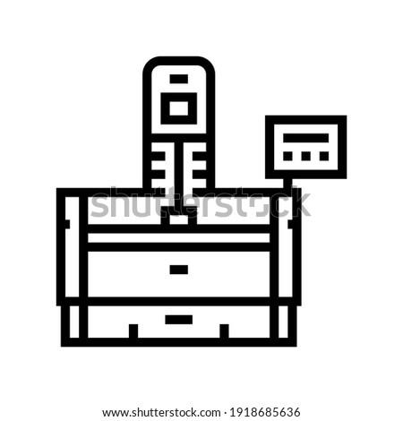 honing machine line icon vector. honing machine sign. isolated contour symbol black illustration Stockfoto ©
