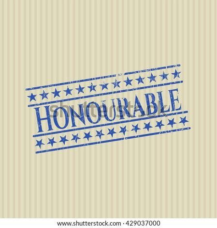 Honourable grunge seal