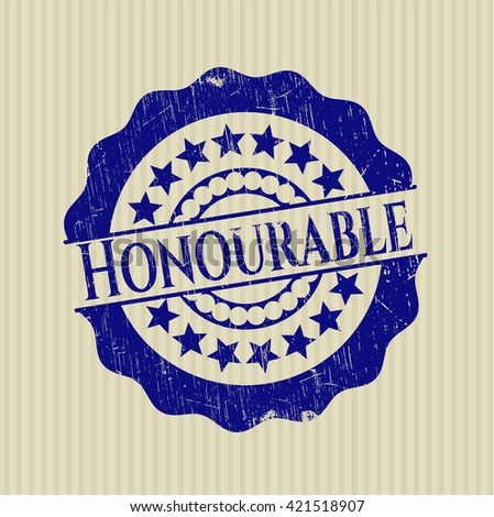Honourable rubber seal