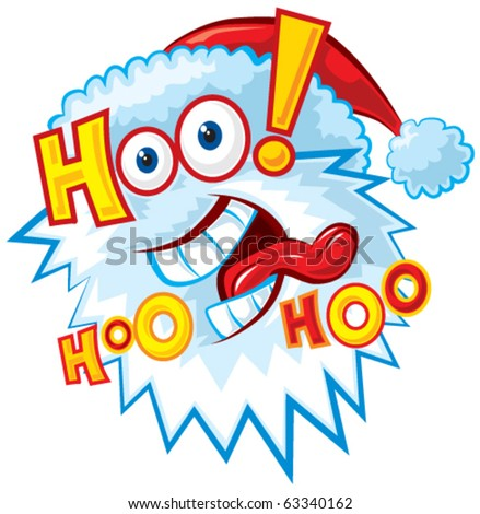 funny santa pictures. Funny Santa vector.