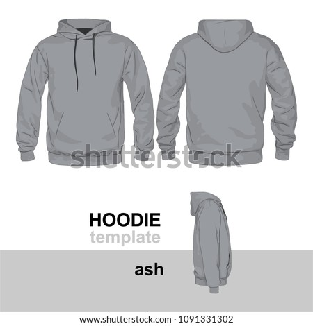 Hoodie Mock Up Template Ash