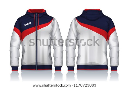 Hoodie Shirts TemplateJacket DesignSportswear Track Front And Back View