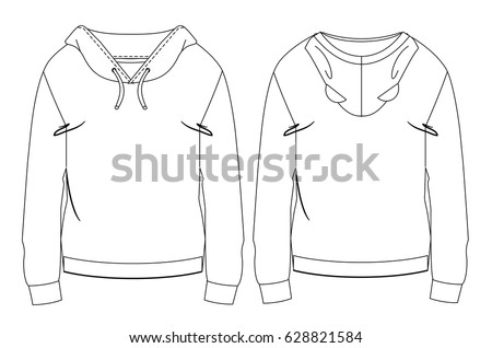 hoodie with bear ears technical