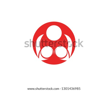 Hook boxing icon template