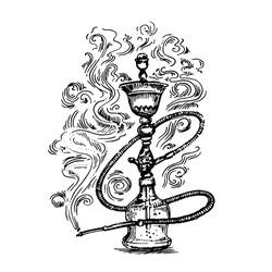 Hookah hand drawn sketch illustration
