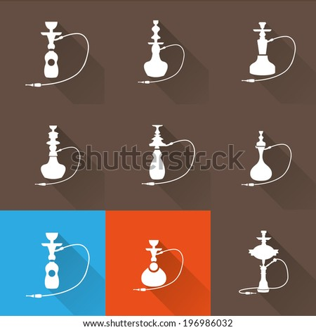 Hookah icon set 2