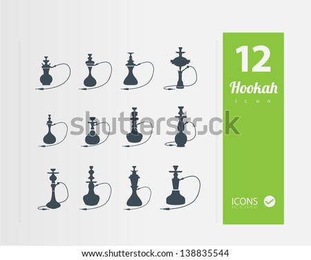 Hookah icons ( Set of 12 Quality icon )