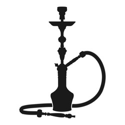 Hookah Silhouette Icon Vector Isolated