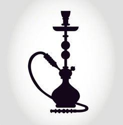 Hookah Silhouette Icon Vector Isolated - Nargile, Hubbly Bubbly, Shisha