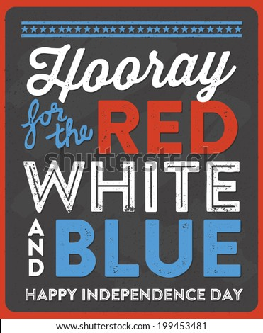 hooray for the red  white  and