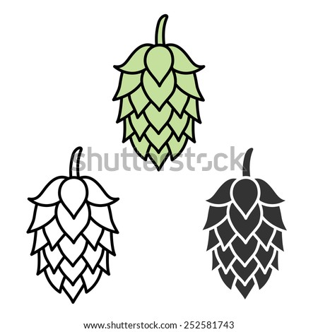 hop beer sign symbol label