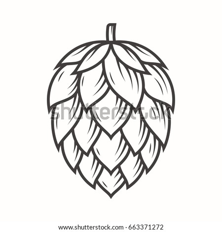 Shutterstock Hop emblem icon label logo. Vector illustration.
