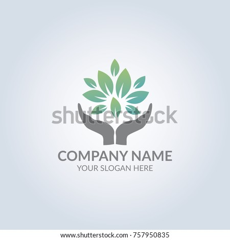 Hope tree symbol logo. Template for your design