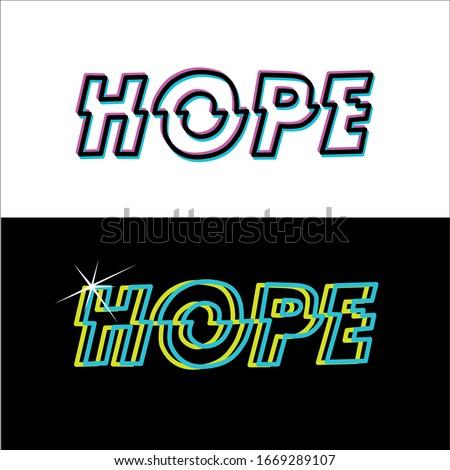 Hope Vector Word Lettering Set