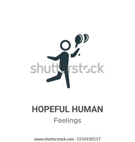 hopeful human vector icon on
