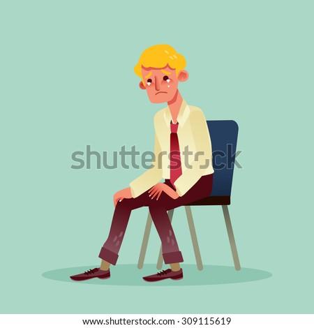 hopeless business man sitting
