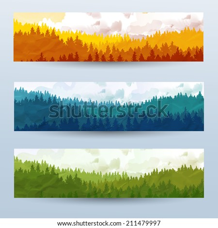 horizontal abstract banners of