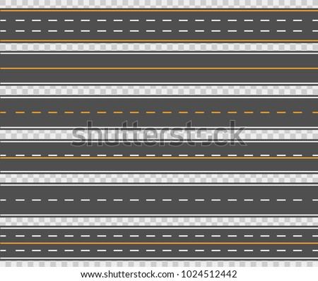 horizontal asphalt roads long