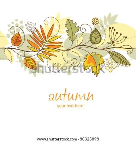 horizontal autumn background