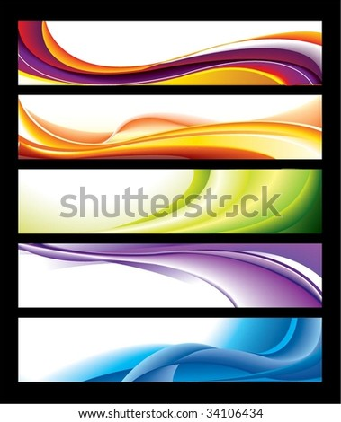 Horizontal Banner Collection - stock vector