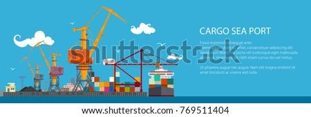 horizontal banner of cargo