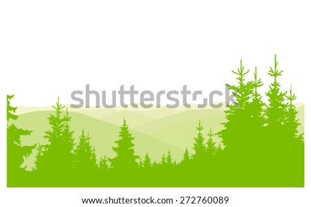 horizontal banner of hills and