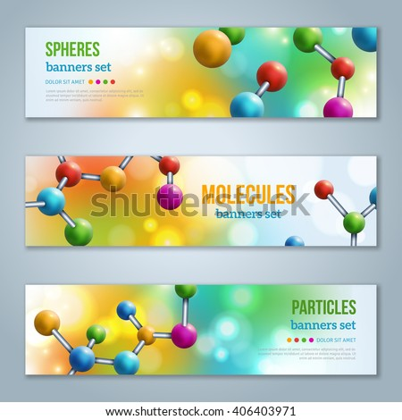 horizontal banners set with