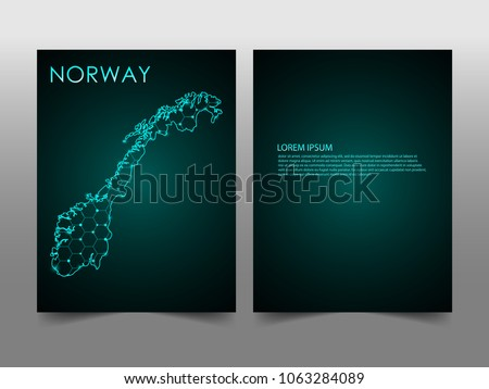 Blank business card mockup presentation design download vetores e horizontal banners template with norway map sphere vector illustration abstract business card vector template reheart Images