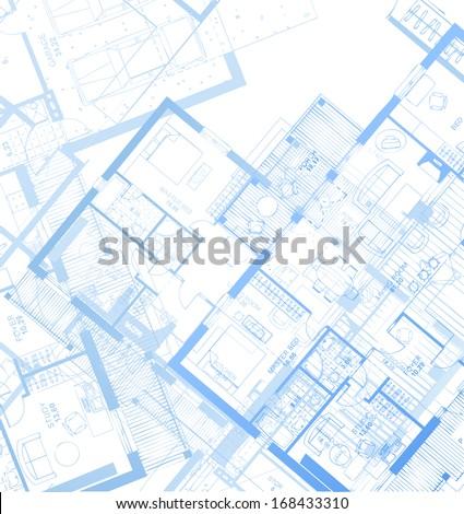 Horizontal Blueprint. Vector