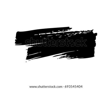 horizontal brush stroke