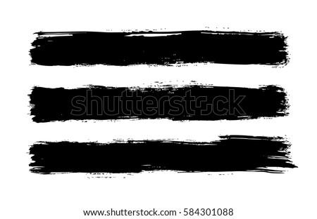 horizontal brush stroke stripes