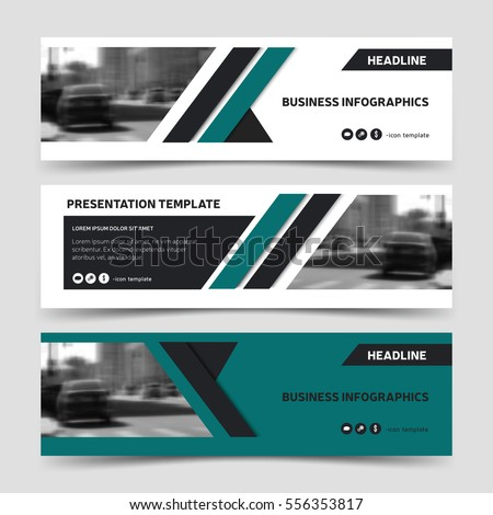Horizontal business banner templates. Vector corporate identity design, technology background layout, eps10.