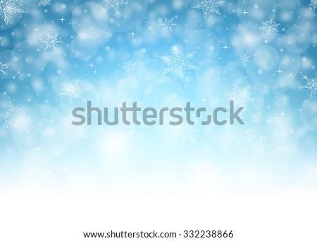 Horizontal Christmas Background - Illustration Vector illustration of Christmas Background