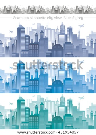horizontal cityscape with