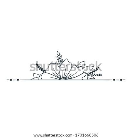 horizontal decoration with
