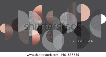 Horizontal elegant gradient geometric header template. Lux and business vibes laconic vector design element for card, header, invitation, poster, social media, post publication.