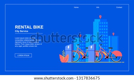horizontal flat banner bike