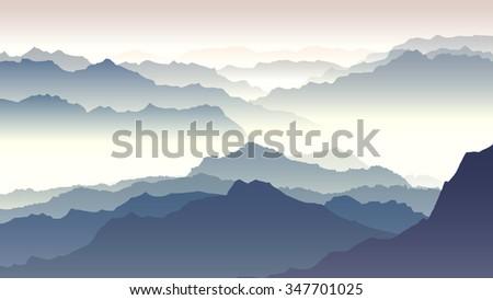 horizontal illustration morning
