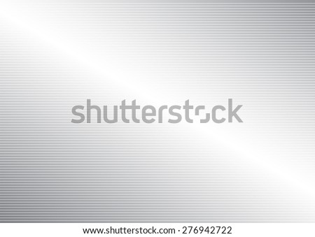 Horizontal line pattern on silver abstract background, vector illustration #276942722