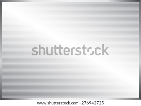 Horizontal line pattern on silver abstract background, vector illustration #276942725