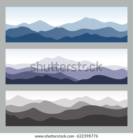horizontal mountain ridges