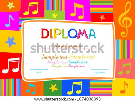 diploma certificate template vector design in red color - Download ...