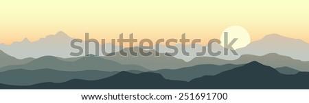 horizontal panorama of