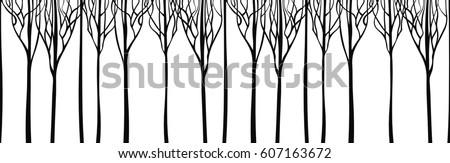 horizontal panorama silhouette
