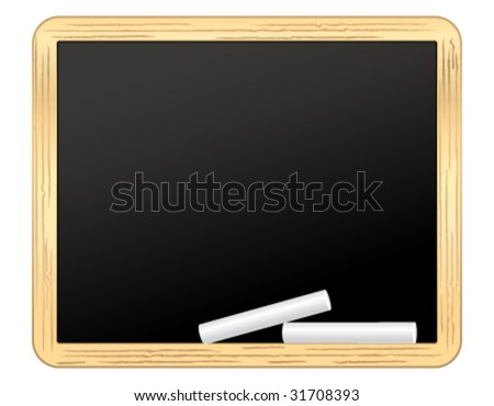 Horizontal school board vector