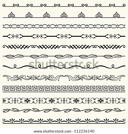 Horizontal seamless elements (set 12)